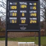 Bedford School bespoke electronic cricket scoreboard