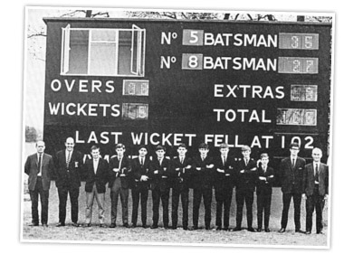 The first electronic cricket scoreboard ??