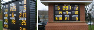 Custom Electronic Cricket Scoreboards