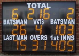 ESU22CL12 electronic cricket scoreboard