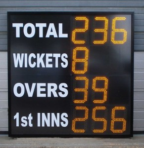 ESU9CL12 electronic cricket scoreboard