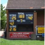 Electronic cricket scoreboard