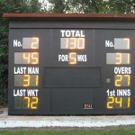 We had to strengthen the rest of the scorebox before replacing the front at Dulwich CC.