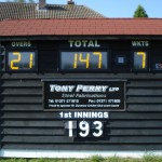 Only three apertures to glaze at  Dunmow CC.