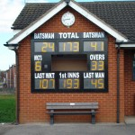 Some signage had to go above to fit everything in at Kirkham & Wesham CC.