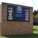 The new fascia at Mainsforth CC  is so large we fitted 450mm characters  for the total.