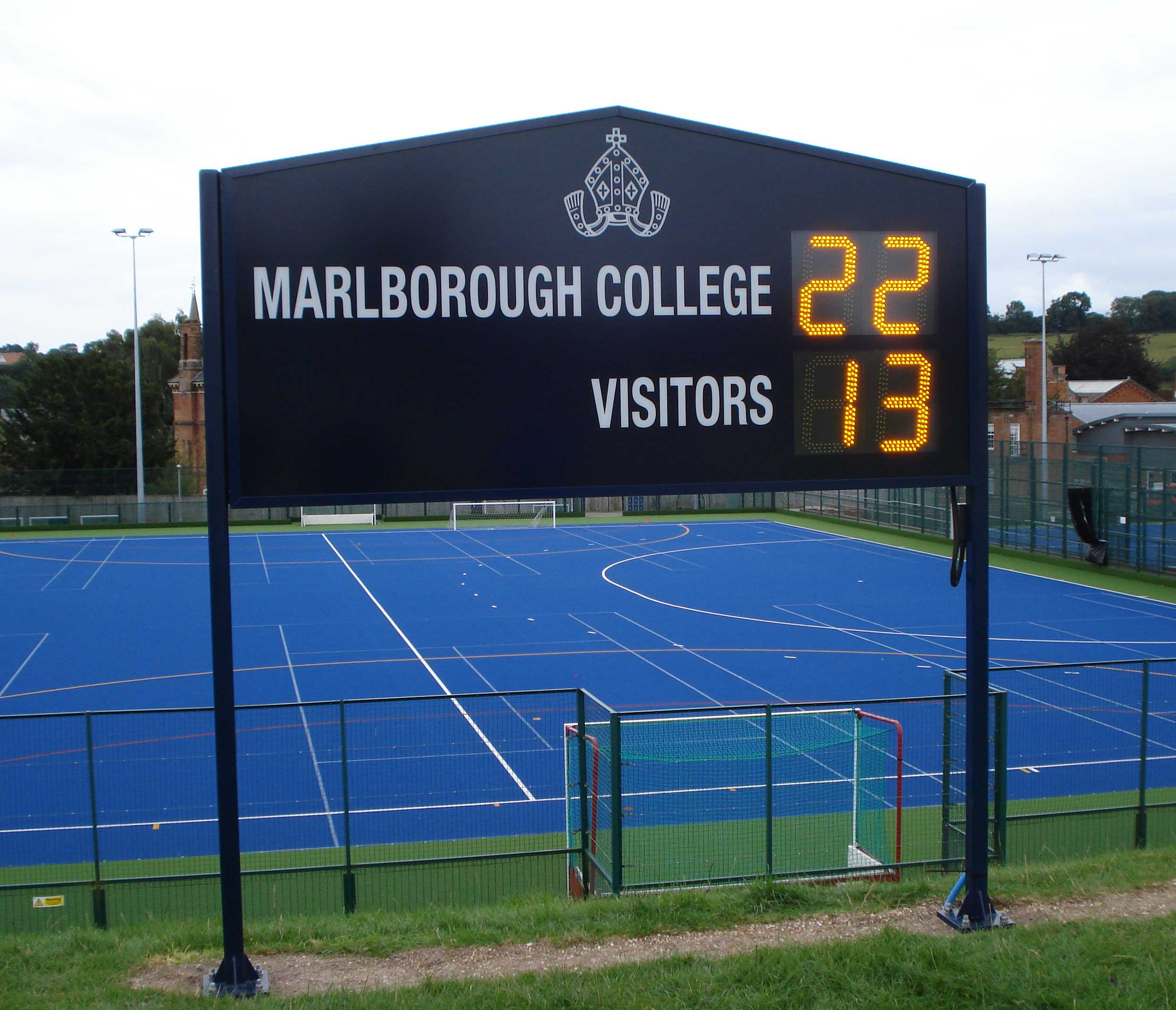 Marlborough College custom electronic rugby scoreboard