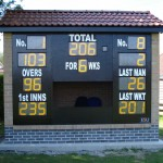 Northallerton CC new scorebox completed  despite delays due to bad weather
