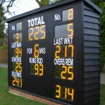 This bespoke electronic cricket scoreboard was built in traditional style