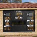 Stamford School - Scorebox doubles as tuck shop with serving window at rear!