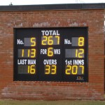 One of two built at Wokingham CC's new out of town ground.