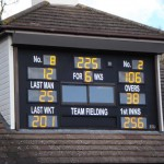 Repaired, repainted and glazed  Walton-on-Thames CC scoreboard  gets a new lease of life.