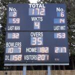 Cricket scoreboard refit