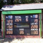 New cricket scoreboard