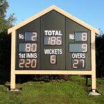 solar power cricket scoreboard